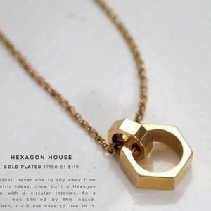 NEW India Hicks Hexagon House Pendant Necklace